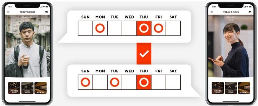 自動日程調整でデート日が簡単に決まる!